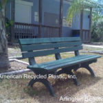 The Legacy Collection featuring the Arlington Bench at American Recycled Plastic