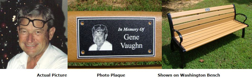 Memorial Benches Accessories Custom Engraved Photo Plaques For Bench