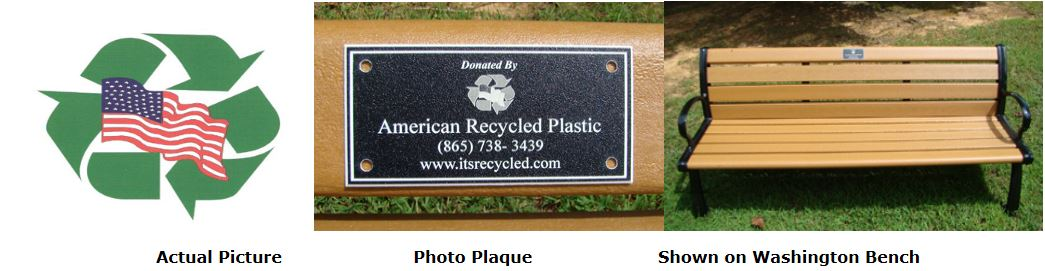 Memorial Bench Pictures Custom Photo Plaque Washington Park Bench Cedar