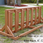 Standard bicycle rack 6ft at American Recycled Plastic Inc