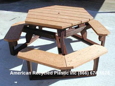 Hexagon Picnic Tables At American Recycled Plastic