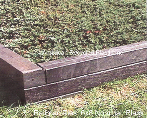 Landscape / Railroad Tie - Site Amenities: Landscape / Railroad Ties: American Recycled Plastic