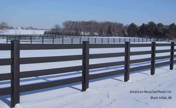 Recycled Plastic Fence Rail 16 Ft Fencing At American