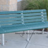 Paul Revere Recycled Plastic Bench 6ft Green