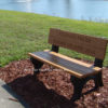 Recycled Plastic Bench Deluxe Park Cedar 4ft