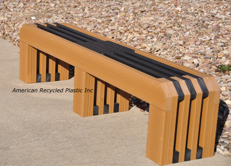 St Louis Recycled Plastic Bench