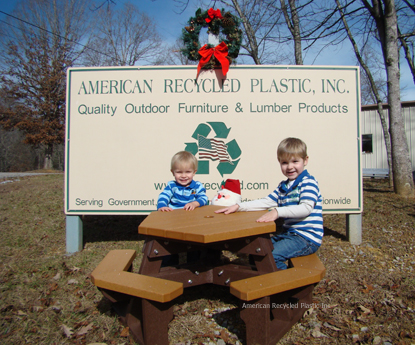 Kids Hexagon Picnic Table Recycled Plastic
