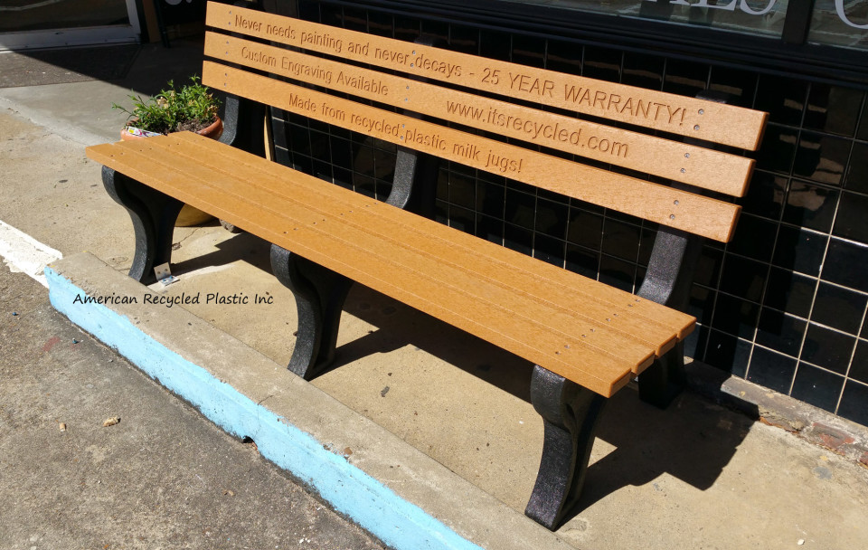 Memorial Benches Accessories Routed Engraved Letters For