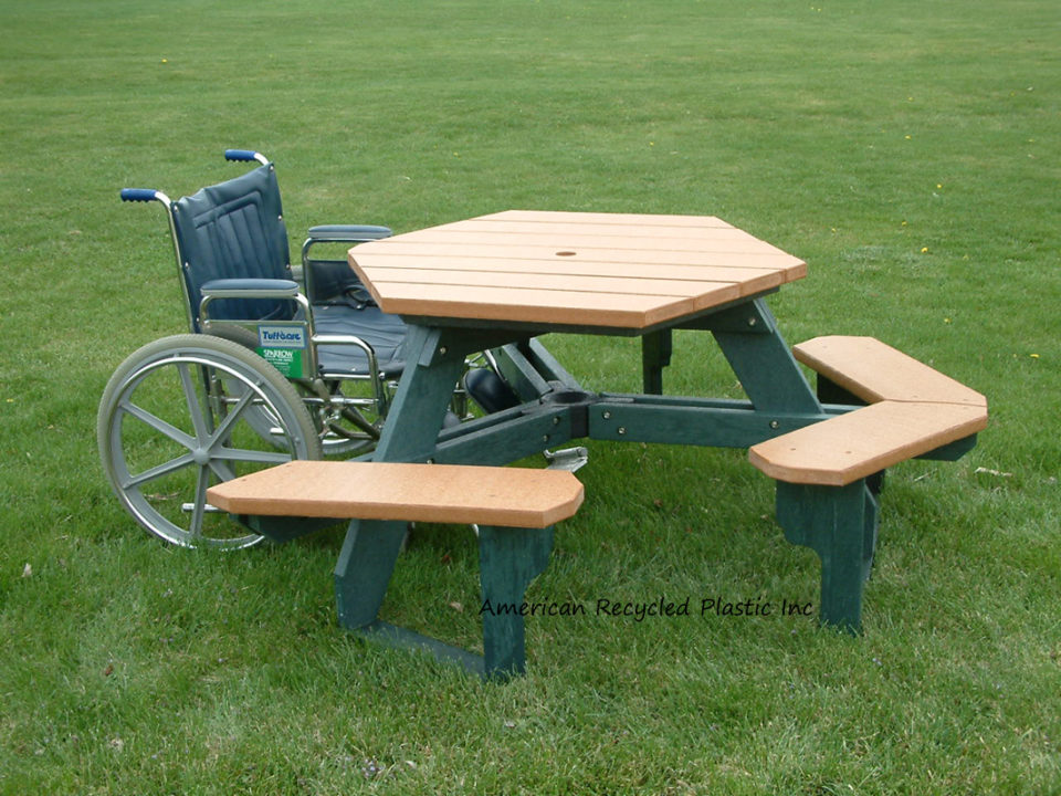 Hexagon Ada Picnic Tables Outdoor Furniture American
