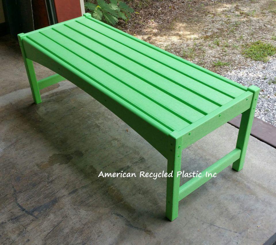 Plastic Bench At American Recycled Plastic Seashore