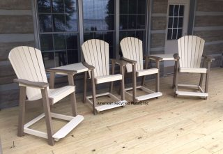 recycled plastic outdoor chairs amish made usa made