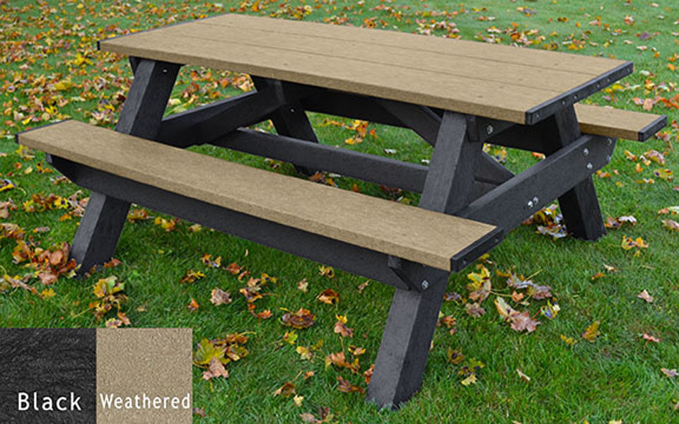 Picnic table standard a frame picnic table american recycled plastic standard picnic table 6 watchthetrailerfo