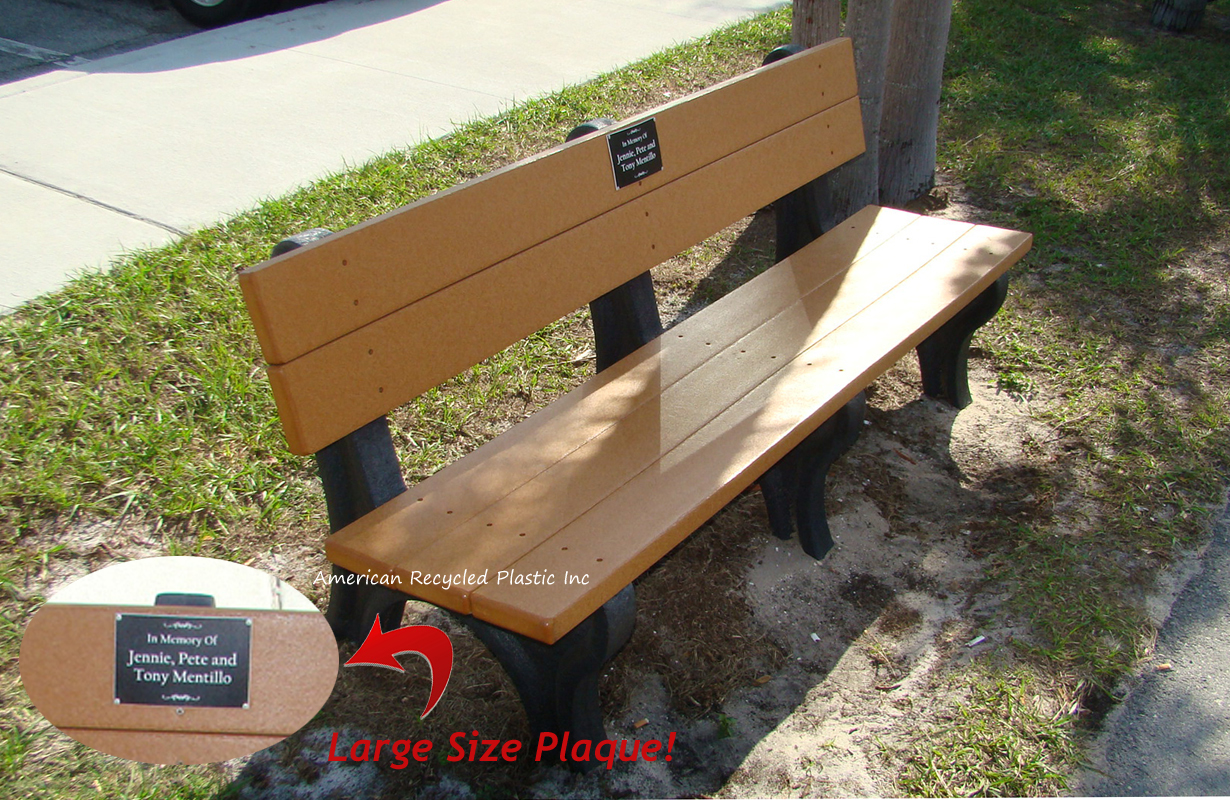 Pleasing Personalized Bench Package Deluxe Park W Large Plaque Short Links Chair Design For Home Short Linksinfo
