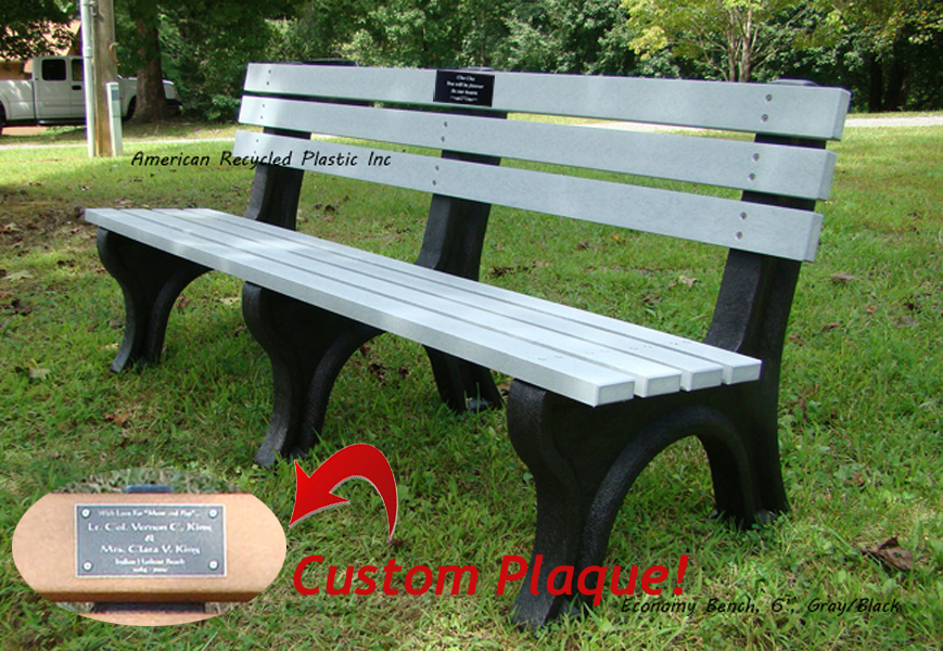 Magnificent Personalized Bench Package Economy Bench With Plaque Short Links Chair Design For Home Short Linksinfo