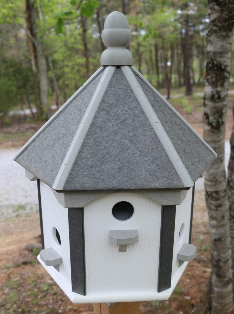 Buy Bird House Hexagon 6 Hole Post Mount American Recycled