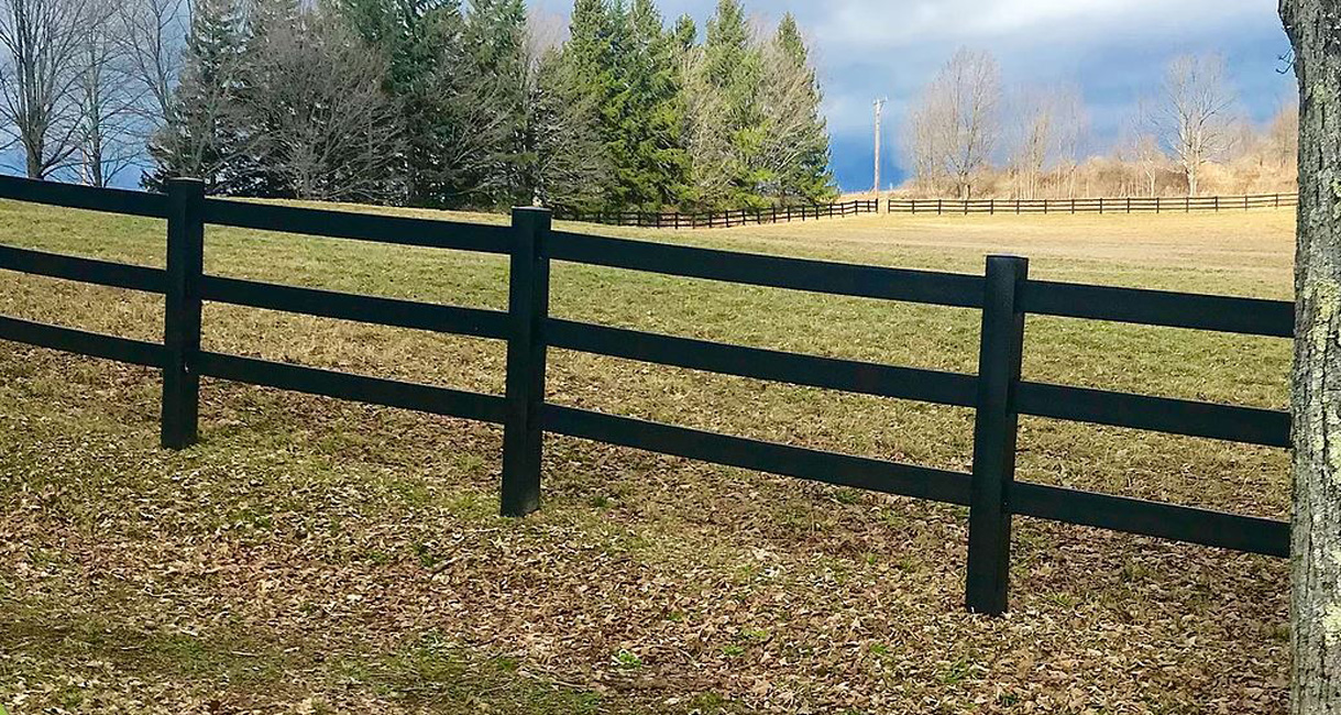 Picture of: Recycled Plastic Economy Fence Post Rail Fencing In Black